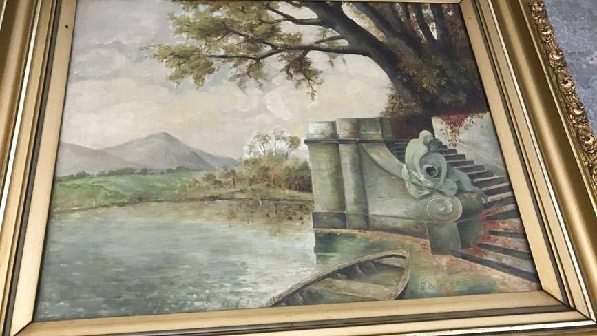 Водія з Тернопільщини спіймали на кордоні з Польщею. Чоловік перевозив картини 1910 року