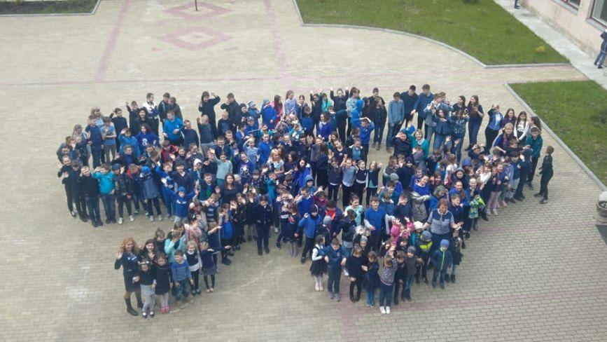 Тернопільські школярі започаткували кольоровий флешмоб