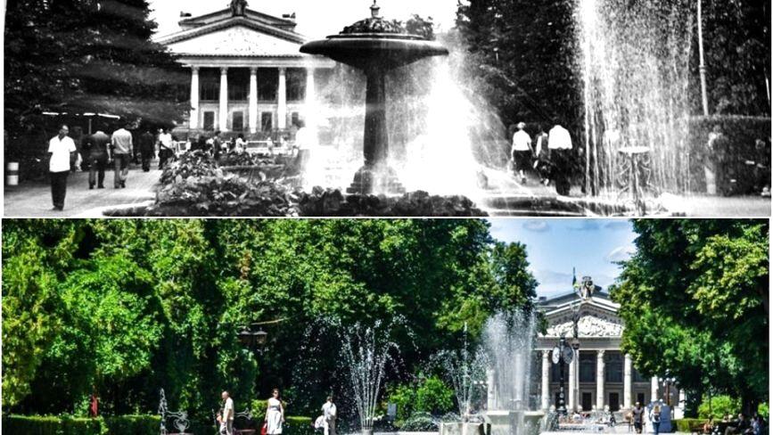 """Як у 60-х виглядав відомий фонтан """"Грибок"""" біля Драмтеатру"""