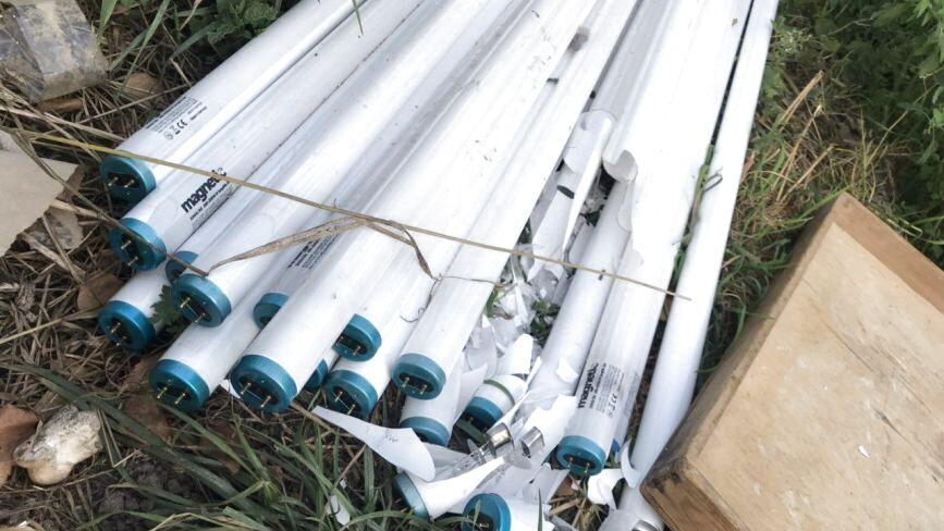 У Тернополі на смітник біля будинків викинули ртутні лампи: що робити та куди звертатися