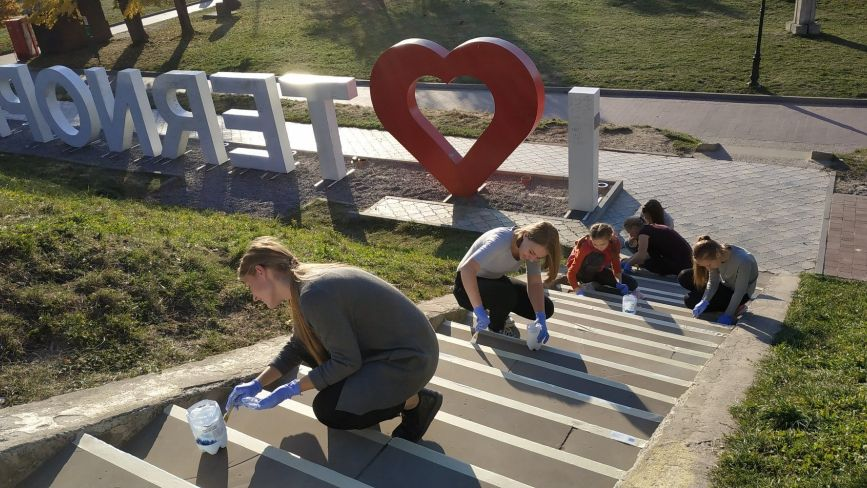 Відео дня: сходи в парку Шевченка знову будуть кольоровими