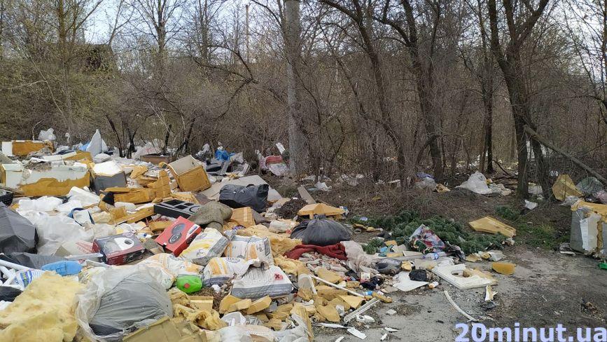 Гори сміття - на узбіччі та навіть деревах. Коли приберуть стихійне сміттєзвалище в Тернополі