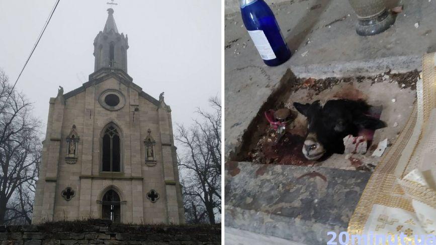 «Мало нам коронавірусу, треба ще й сатанистів…» : хто осквернив костел у Борщеві?