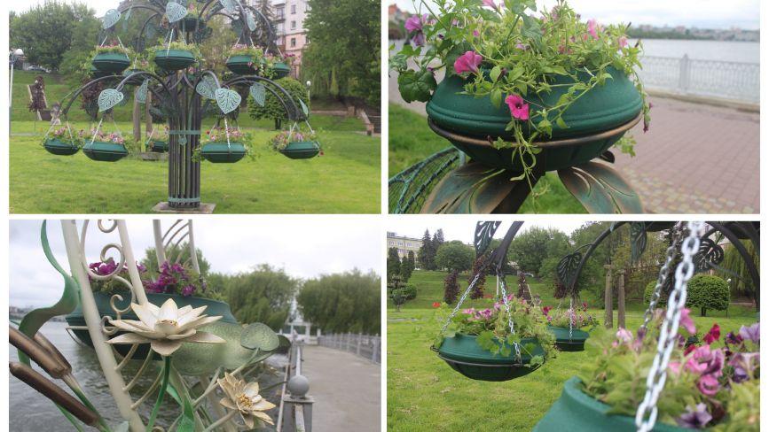 Вертикальне озеленення за 200 тис. гривень: у парку ім. Т. Шевченка ще встановили нові ковані скульптури