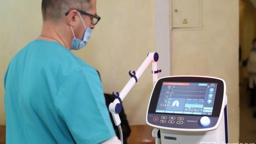 У лікарню швидкої допомоги передали апарат ШВЛ за мільйон гривень. Скільки їх уже є в Тернополі?
