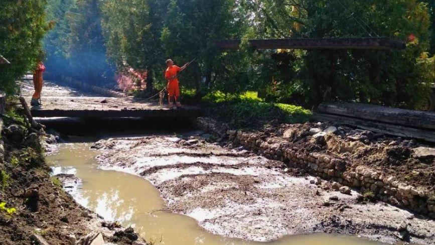 У парку Шевченка, де була річка Рудка, почали реконструкцію очисногоколектора (ФОТО)