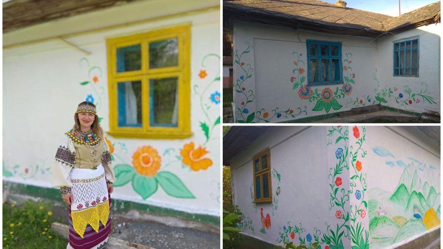 Майстриня з Чорткова розмалювала будинок, якому майже сто років
