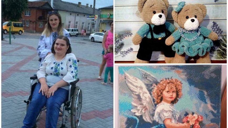 Cестри з Теребовлянщини, які хворіють на ДЦП, створюють неймовірні картини та іграшки