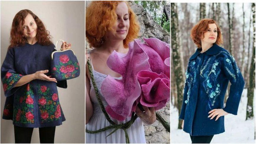 Як захоплення стало дизайнерством: тернополянка з допомогою валяння вовни створює одяг