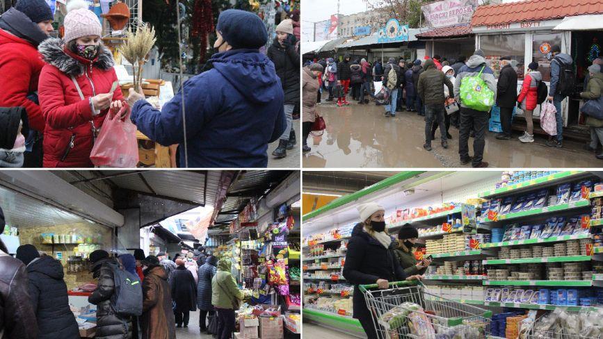 """Тернополяни """"штурмують"""" ринок та супермаркети напередодні Різдва (ФОТОРЕПОРТАЖ)"""
