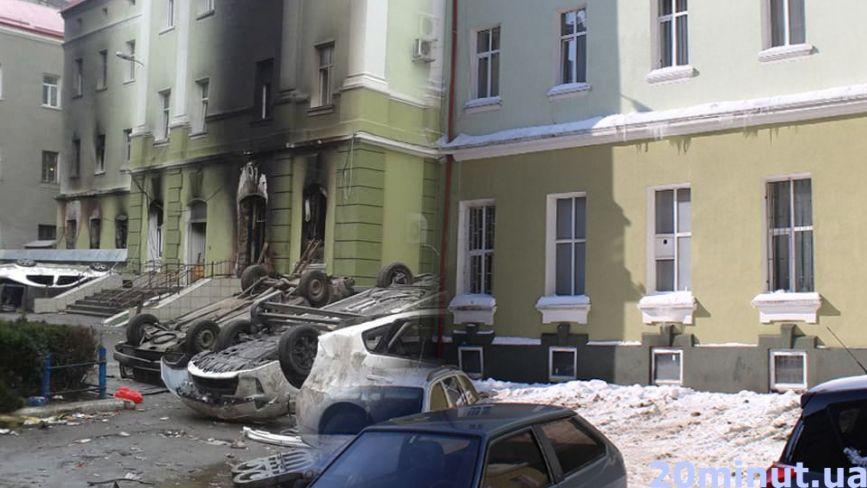З одного ракурсу: погром біля міліції та намети на майдані. Як виглядав Тернопіль під час Євромайдану