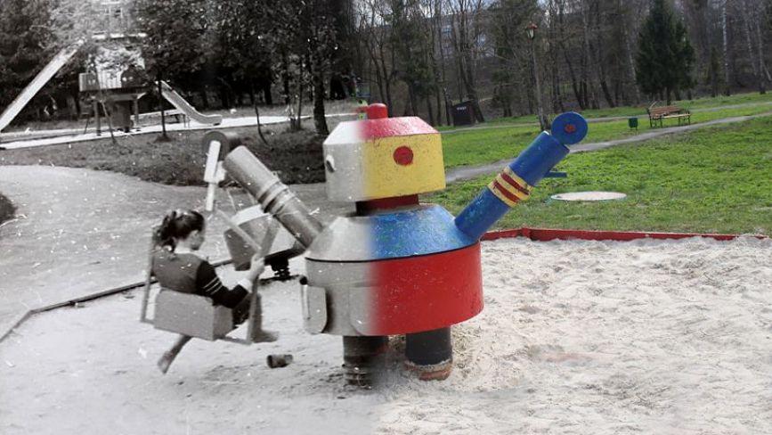 Каруселі, гойдалки і радянська авіація. Атракціони у парку «Топільче» раніше та зараз: порівнюємо ФОТО