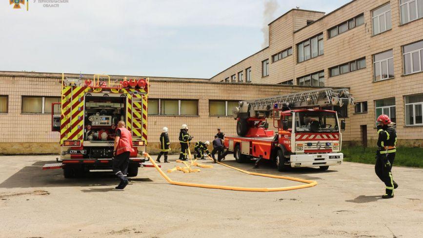 У Тернополі горіла покрівля школи (ФОТО)