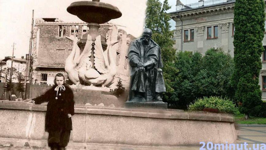 Грибочок, Лебеді та «Володя Ульянов»: що лишилось від відомих фонтанів Тернополя. Ми відтворили старі фото