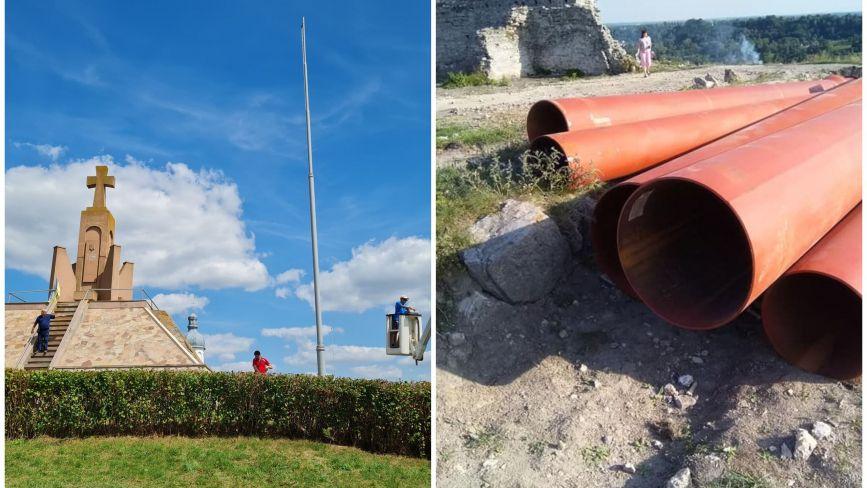 У кого вищий і дорожчий: ще два флагштоки встановили у містечках Тернопільщини. У скільки вони обійшлись