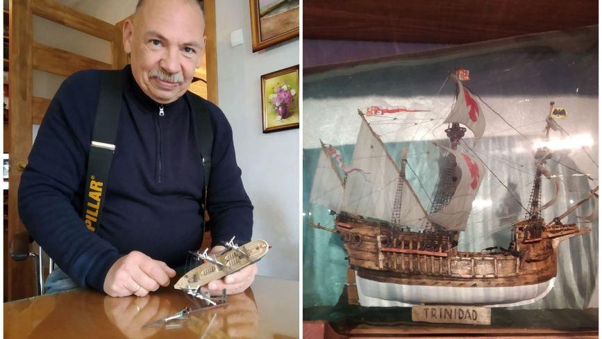 Мініатюри, які вражають: як тернополянин поміщає копії історичних кораблів у пляшки (ФОТО)