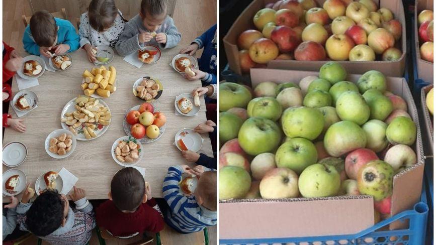Малюки у тернопільському дитбудинку смакують фруктами, які їм передали читачі «20 хвилин»: фото дня