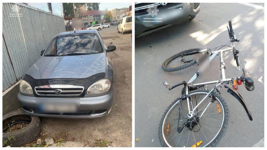 У Тернополі п'яний водій збив велосипедиста і втік з місця аварії (ФОТО)