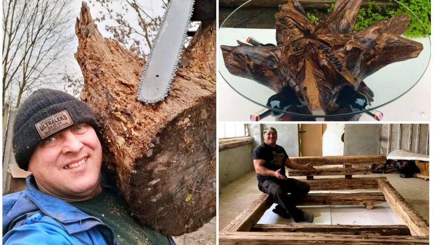Перетворив коріння дерев на прибуткову справу: карантин підштовхнув тернополянина відкрити бізнес