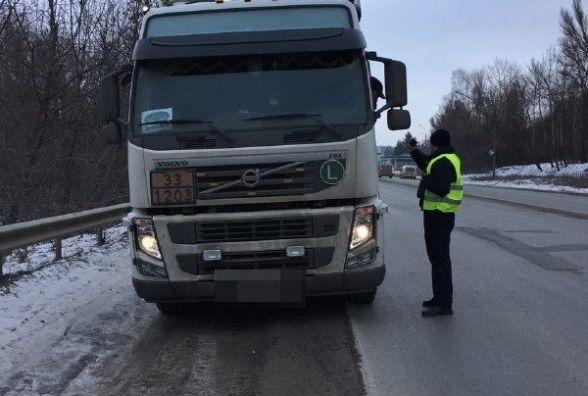 Водії з небезпечними вантажами без маркування отримали штрафи