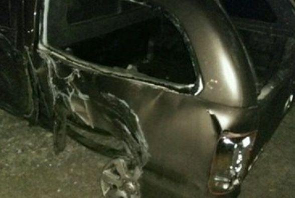 На Бережанській водій повалив електроопору та перекрив рух