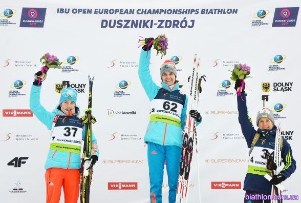 """Тернопільська біатлоністка виграла """"бронзу"""" чемпіонату Європи"""