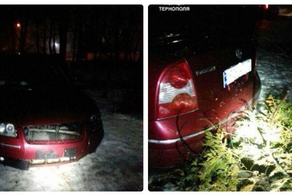 П'яний водій Volkswagen тікав від поліції і врізався в перешкоду