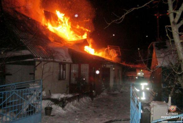 Чотири будинки горіли на Тернопільщині