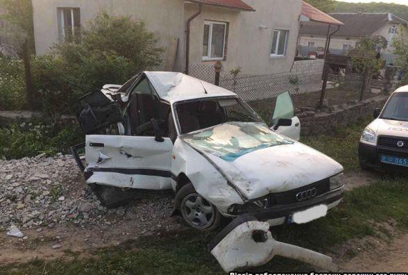 Тернополянин на Audi влетів у відбійник