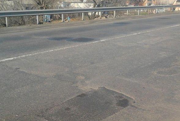 Приватна фірма неякісно виконала ремонт дороги поблизу Кременця