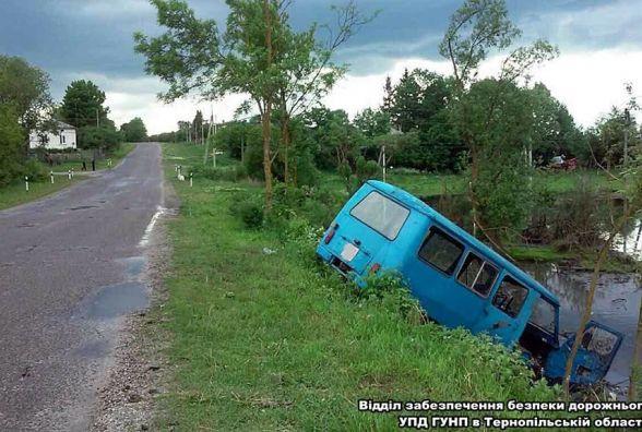 ДТП в Підволочиську: автомобіль впав у ставок, двоє людей постраждало