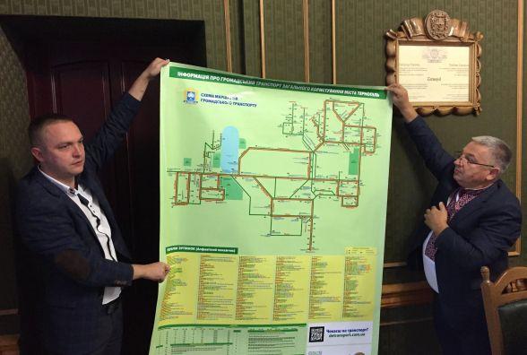 На зупинках наклеять схему руху транспорту та інформацію про картку тернополянина