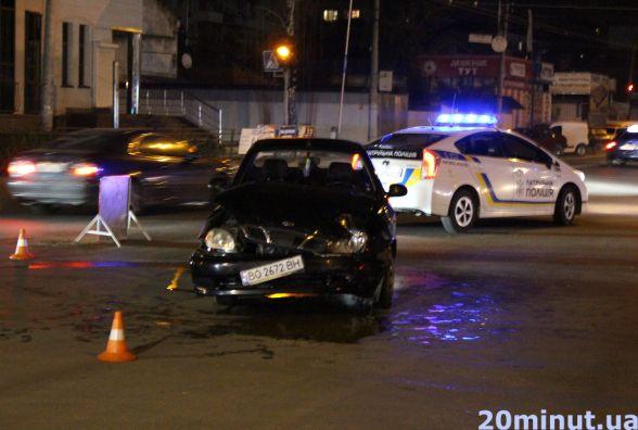 Шукають свідків аварії біля ринку, у якій зіткнулись Daewoo та поліцейський Duster