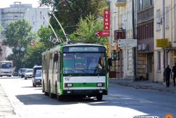 У неділю тролейбус №8 тимчасово змінить маршрут