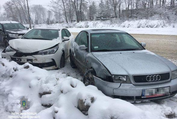 На Микулинецькій водій Audi підрізав Toyota