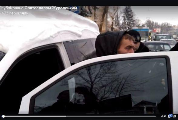 На Збаразькій люди викликали поліцію до п'яного водія за кермом