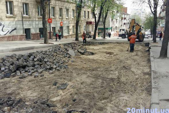 Розпочали ремонт на вулиці Шашкевича. Рух перекриють до 31 травня