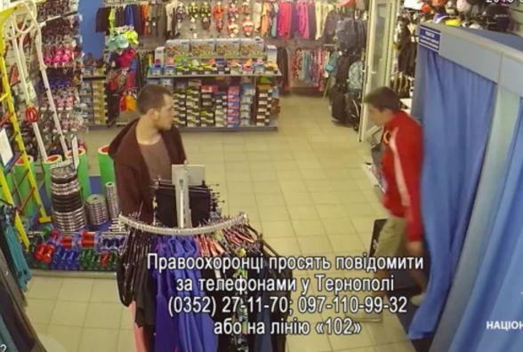У Тернополі розшукують хлопців, які викрали товар з магазину «Спортландія». Є відео