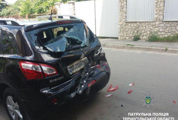 У Тернополі п'яний водій на вантажівці розтрощив Nissan Qashqai
