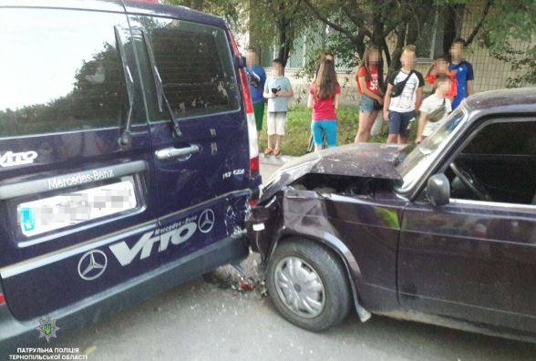 На Довженка зіткнулось два авто. Один з водіїв був із ознаками алкогольного сп'яніння