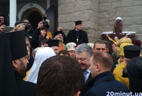 Президент Петро Порошенко приїхав у Тернопіль на молебень у Надставній церкві (пряма трансляція)