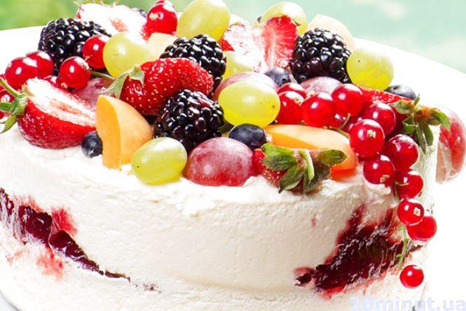 Готуємо торт-морозиво з фруктами
