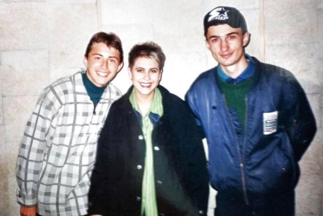 Притула опублікував фото, де він в Тернополі у 1997-му році сфотографувався із зіркою 90-х