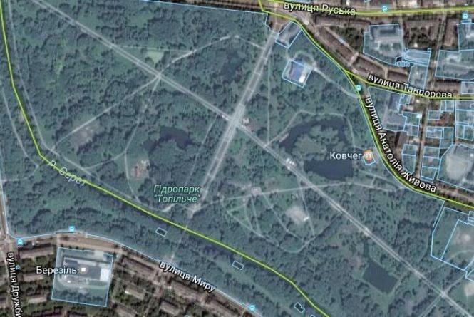 Майже два гектари парку «Топільче» дають під спортивно-сімейний комплекс відпочинку