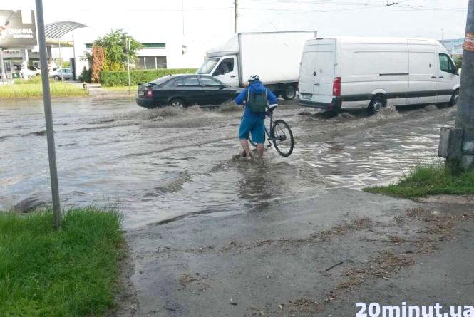 Фото дня: Збаразьке кільце затопило