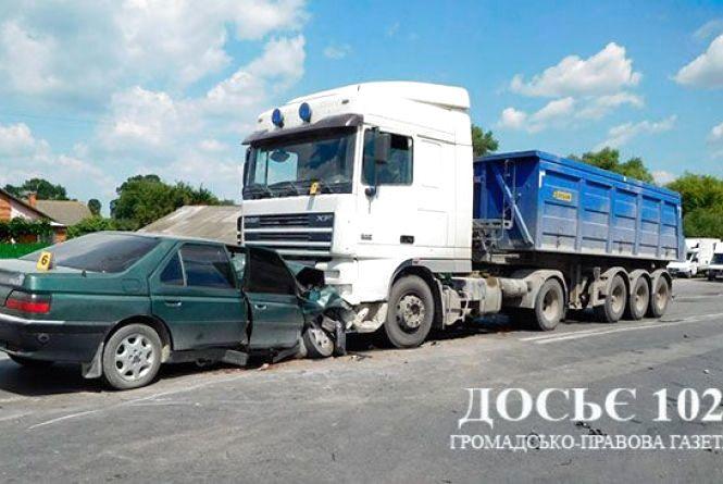Смертельна аварія на Тернопільщині: загинув водій легківки