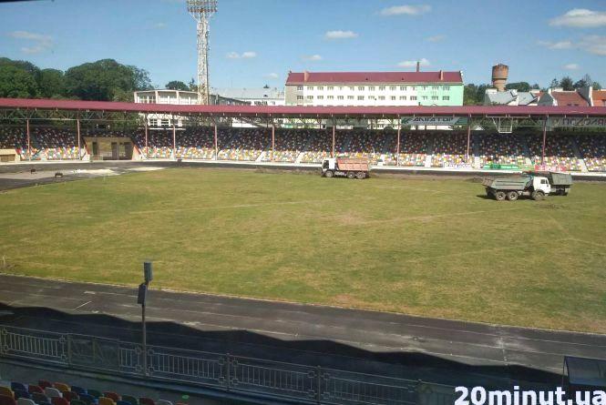 На міському стадіоні розпочалися роботи із реконструкції поля