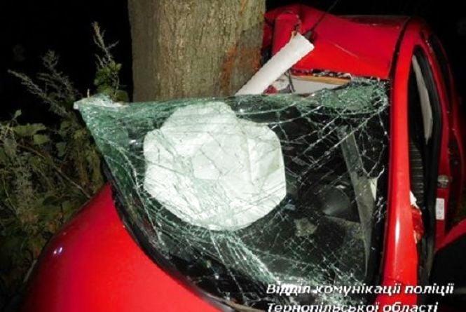 На Тернопільщині неповнолітній на іномарці врізався в дерево і загинув