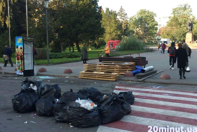 Відфестивалили: Тернопіль прибирають після останнього в році гастрономічного фесту