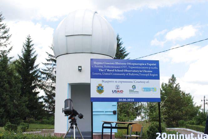 У селі на Тернопільщині школярі можуть спостерігати за планетами, кометами та астероїдами